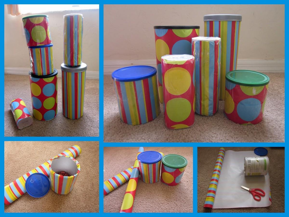 Take Home Idea: Home-made musical shakers